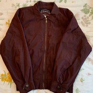 Burgundy lightweight microfiber jacket